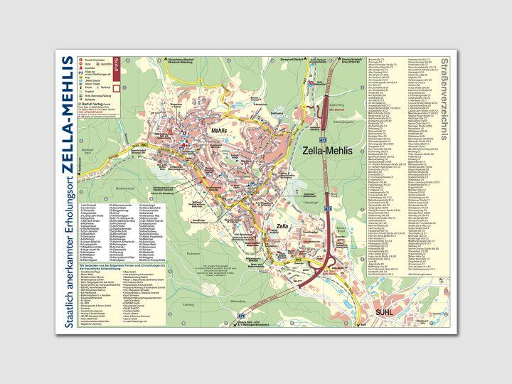 Kartenabreißplan Zella-Mehlis