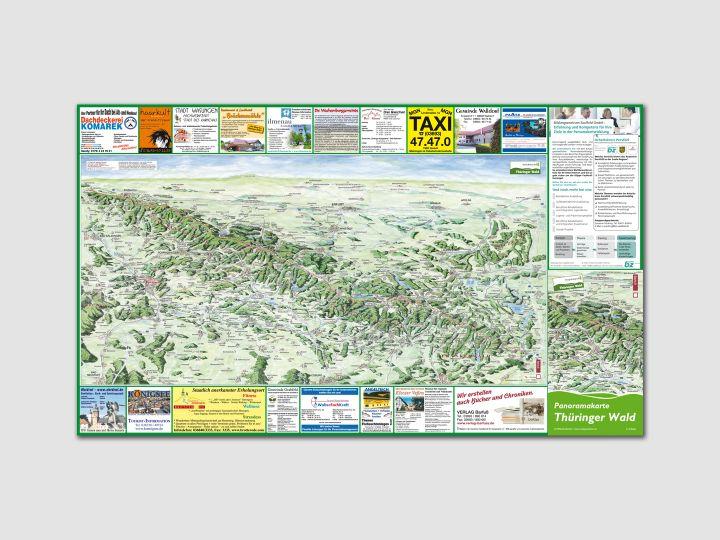 Panoramakarte Thüringer Wald